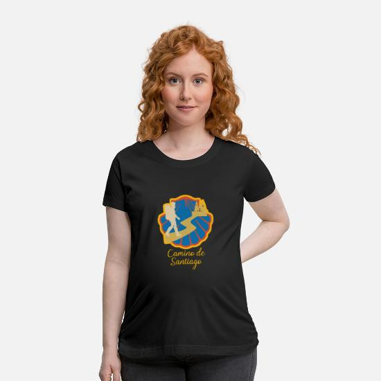 Birthday T-Shirts - Camino de Santiago - Maternity T-Shirt black