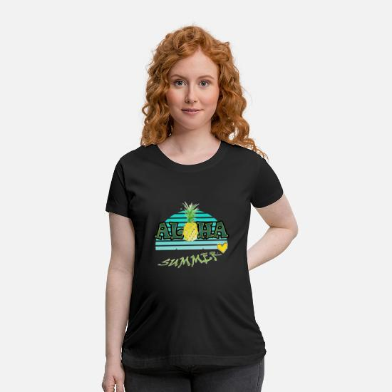 Color T-Shirts - AD Pineapple - Maternity T-Shirt black