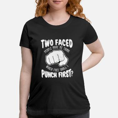 Punch Punch punch fist - Maternity T-Shirt