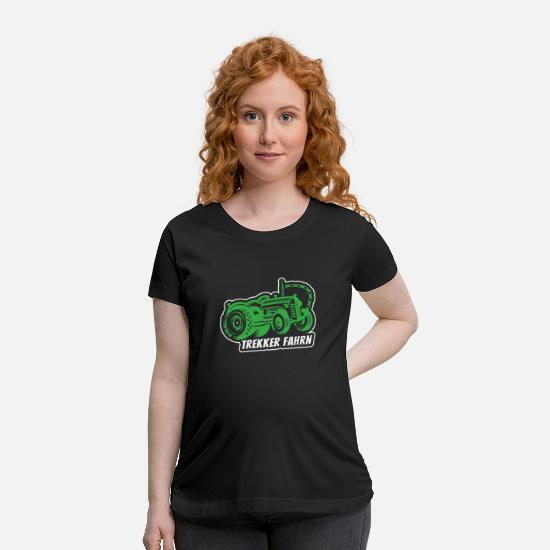 Gift Idea T-Shirts - T-shirt for farmer farming tractor - Maternity T-Shirt black
