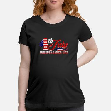 Independence 4th July T-Shirt American Flag Eagle Men Women - Maternity T-Shirt