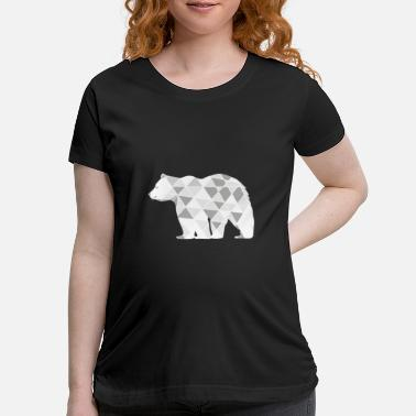 Knut Polar Bear Arctic Geometry Knut Gift - Maternity T-Shirt