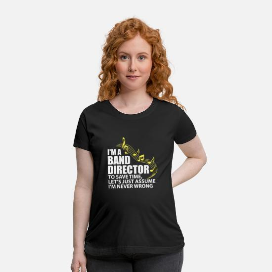 Flute T-Shirts - I'm A Band Director Funny Musician Music Lover - Maternity T-Shirt black