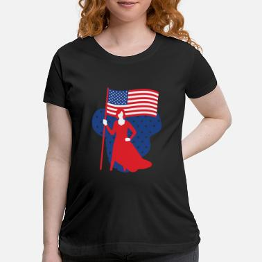 Independence Patriotic Power 4th of July Flag Independence Day - Maternity T-Shirt
