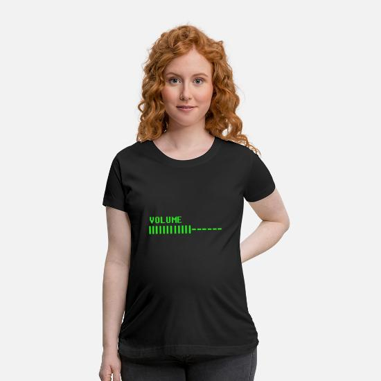 Old School T-Shirts - Retro Volume TV - Maternity T-Shirt black