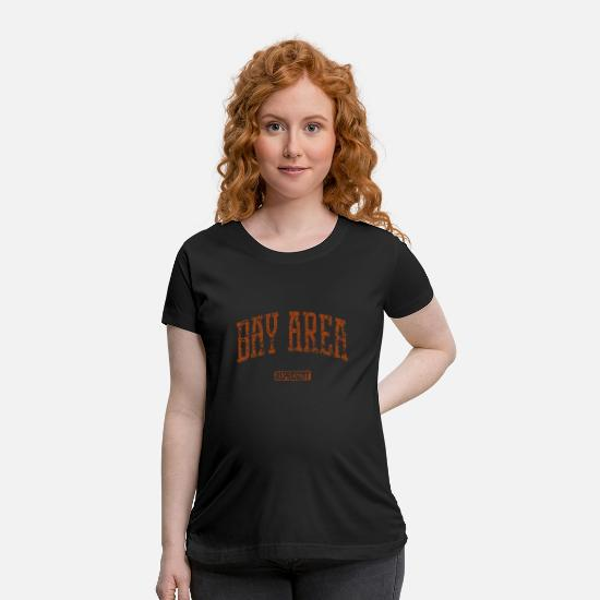 Bayer T-Shirts - Bay Area Represent Sweatshirt Men Crewneck Bay Are - Maternity T-Shirt black