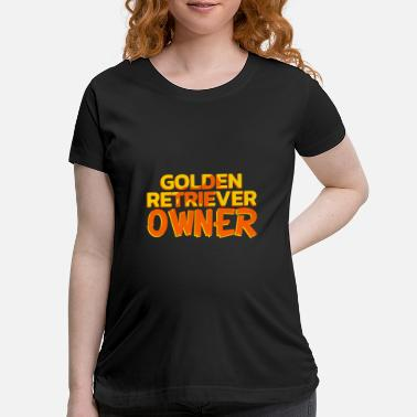 Easter Egg Goldenretriever Owner - Maternity T-Shirt