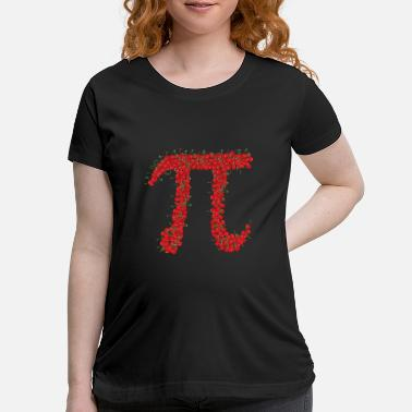 Pi Day Pi Day Tees: Cherry Pie Pi Day design - Maternity T-Shirt