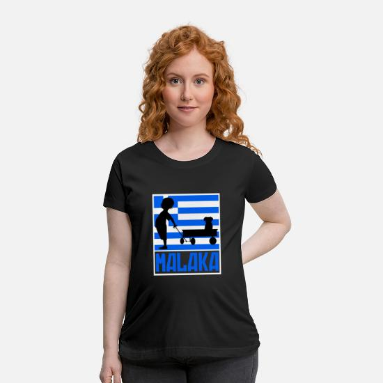 Greek T-Shirts - Greek Boy. Cool Greek Flag. Funny Greek vacation - Maternity T-Shirt black
