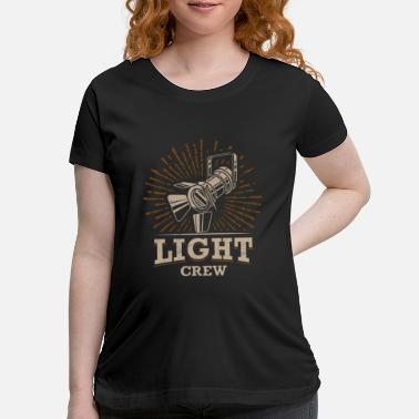 Stage Light Crew Retro Light Technician Stage Crew Gifts - Maternity T-Shirt