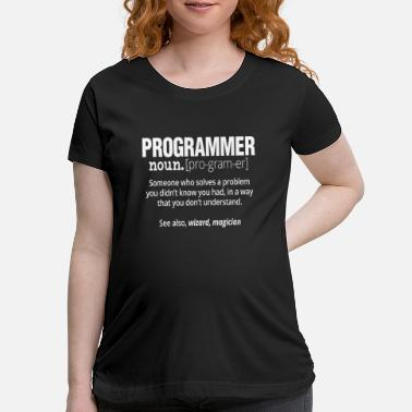 Trojan Funny Programmer T-Shirt - Code Works Why - Maternity T-Shirt