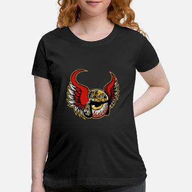 Armed Cool Comic Eye with Wings - Maternity T-Shirt