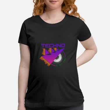 Trance Techno Is Not Fake Bass Sound EDM Music Festival - Maternity T-Shirt