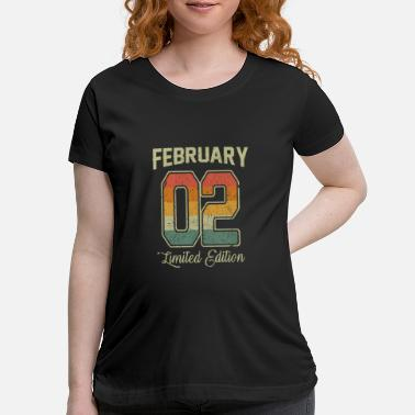 Production Year Vintage 18th Birthday February 2002 Sports Gift - Maternity T-Shirt