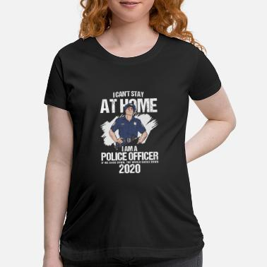 Navy Police Officer 2020 Policeman Police Station Gift - Maternity T-Shirt