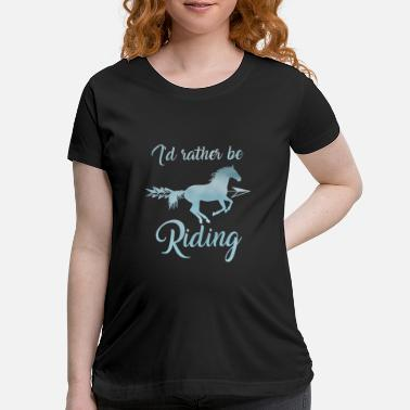 Thelwell Horse Riding Gift for Girls Equestrian lover - Maternity T-Shirt