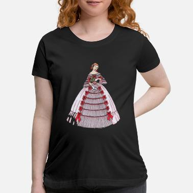 Gown Vintage Woman s Ball Gown 2 - Maternity T-Shirt
