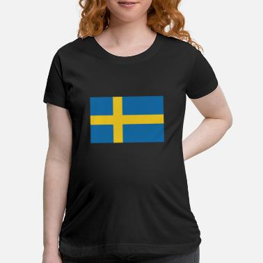 Sweden Flag of Sweden, flag Sweden, Sweden flag - Maternity T-Shirt