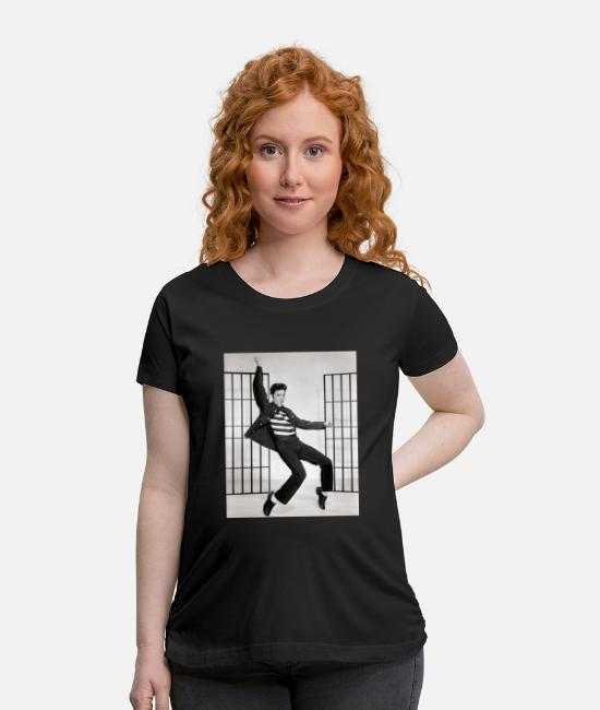 Elvis T-Shirts - adolescent adult black and white 270968 - Maternity T-Shirt black