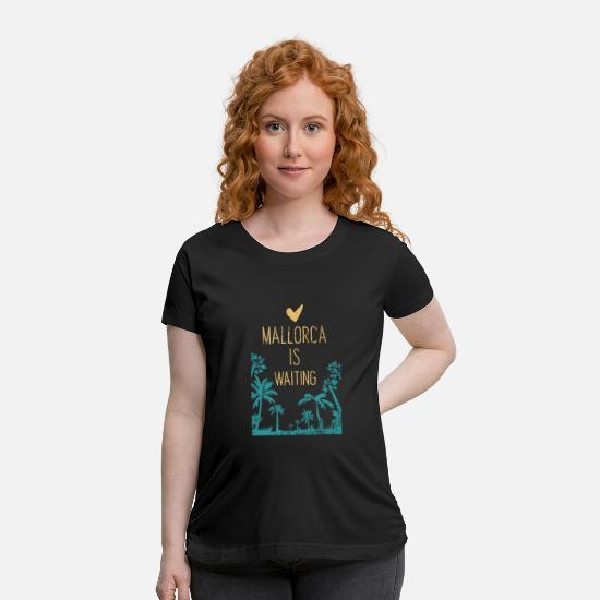 Spain T-Shirts - Mallorca - Maternity T-Shirt black
