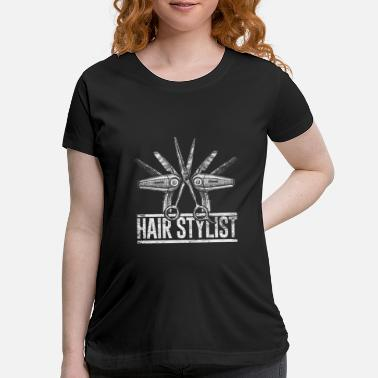 Comb Hair Stylist Comb Scissors - Maternity T-Shirt