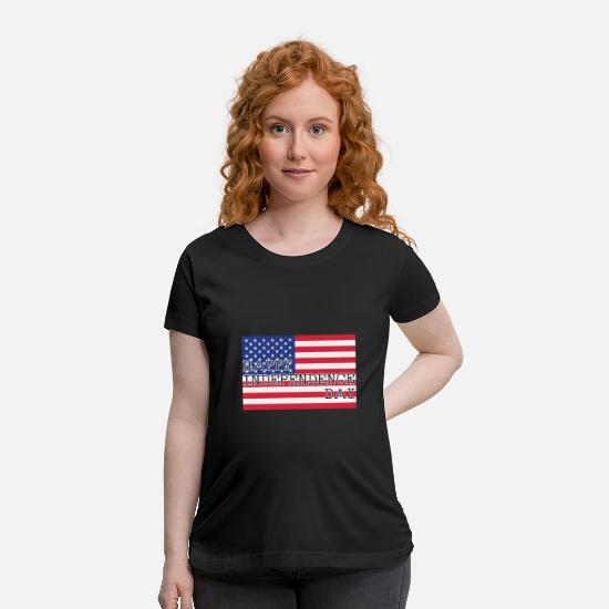 Usa T-Shirts - Happy Independence Day - Maternity T-Shirt black