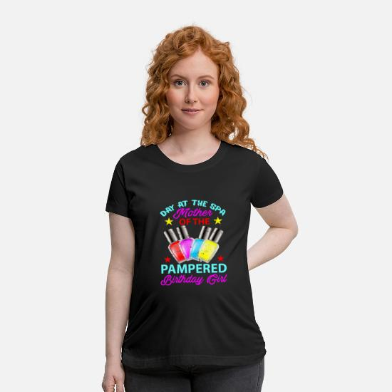 Girl T-Shirts - Girls Day At The Spa Party Birthday - Maternity T-Shirt black