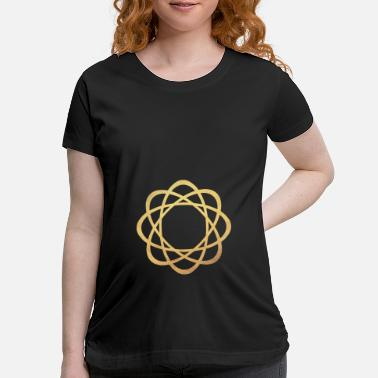 Shiva Yoga Gold Mandala Meditation Energy Concentration - Maternity T-Shirt