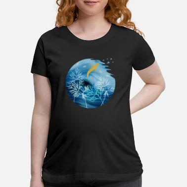 Animal Planet Sea Planet With Fish - Maternity T-Shirt