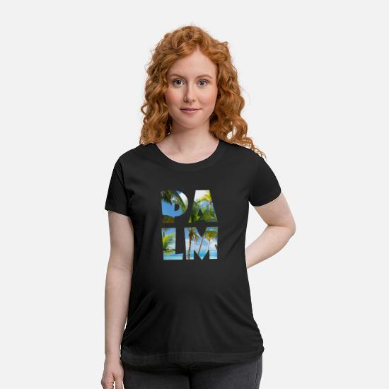 Usa T-Shirts - Palm California America Beach & Summer Festival - Maternity T-Shirt black