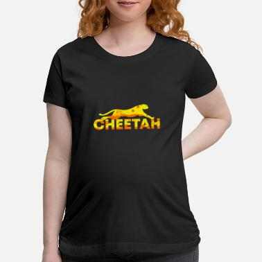 Cheetah Images Double Exposure Animals Cheetah - Gift Idea - Maternity T-Shirt
