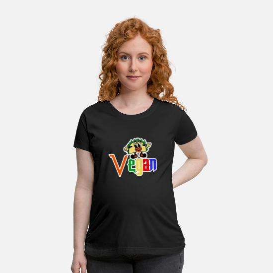 Gift Idea T-Shirts - Vegan - Maternity T-Shirt black