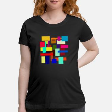 Rectangle Rectangles - Maternity T-Shirt