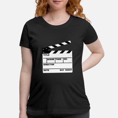 Motto clapperboard (writable flex) - Maternity T-Shirt