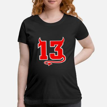 Number Lucky Devil 13 - Maternity T-Shirt
