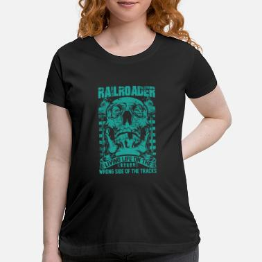 Illinois Central Railroad Railroader Living life on the wrong side Railroa - Maternity T-Shirt