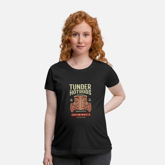 Hot Rod T-Shirts - Thunder Hot Rods - Maternity T-Shirt black