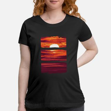 Watercolor Watercolor Sunset - Maternity T-Shirt