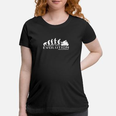 Ape Evolution apes to motorcyle - Maternity T-Shirt
