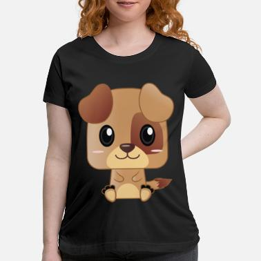 Cute Cute Brown Puppy Cartoon - Maternity T-Shirt
