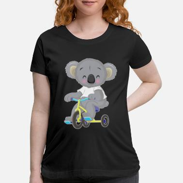 Tricycle Koala bear with tricycle - Maternity T-Shirt