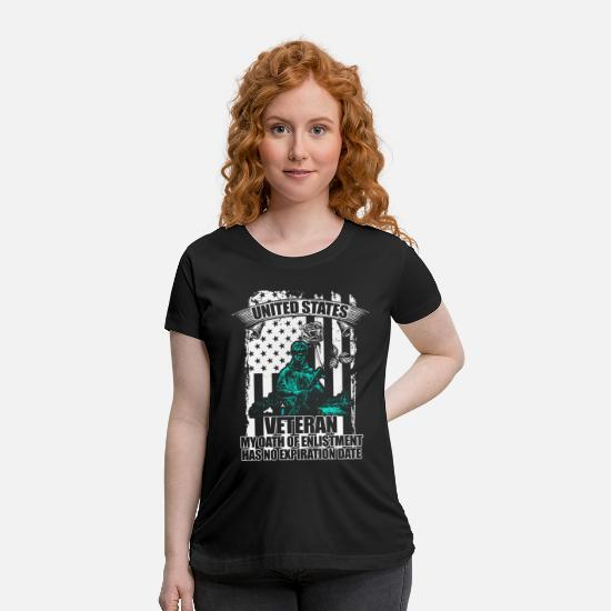 Pride T-Shirts - Veteran - Maternity T-Shirt black