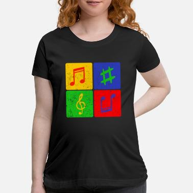 Sheet music Song Songs Musicfan - Maternity T-Shirt