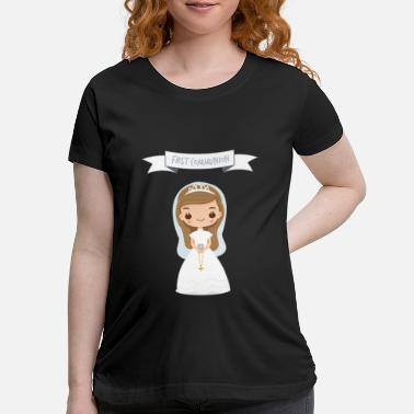 Kreuz First communion gift for Girls for the first Holy - Maternity T-Shirt