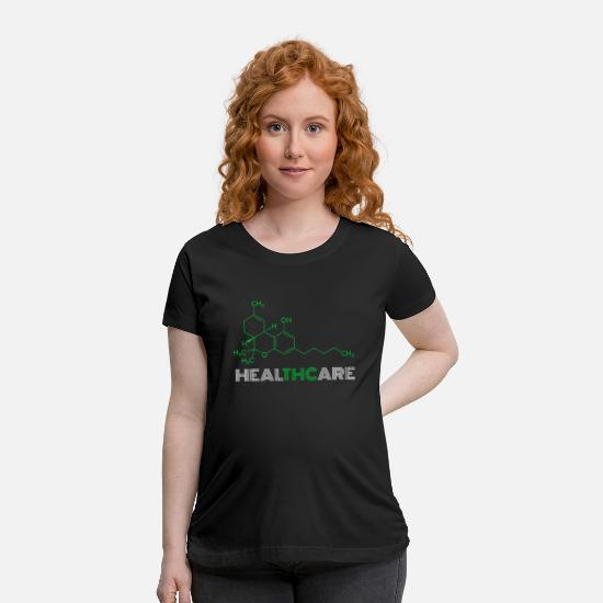 Cool T-Shirts - Healthcare Thc, Funny Marijuana Molecule Structure - Maternity T-Shirt black