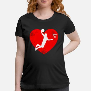 Matching Couples Basketball Basketball Valentines Day Tshirt Basketball Lovers - Maternity T-Shirt