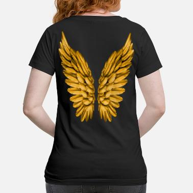 Angelwings Angel Wings Angelwings Gold Golden Guardian Angel - Maternity T-Shirt