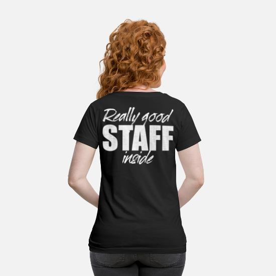 Motivation T-Shirts - Really Good Staff Inside Event Crew Team Workforce - Maternity T-Shirt black