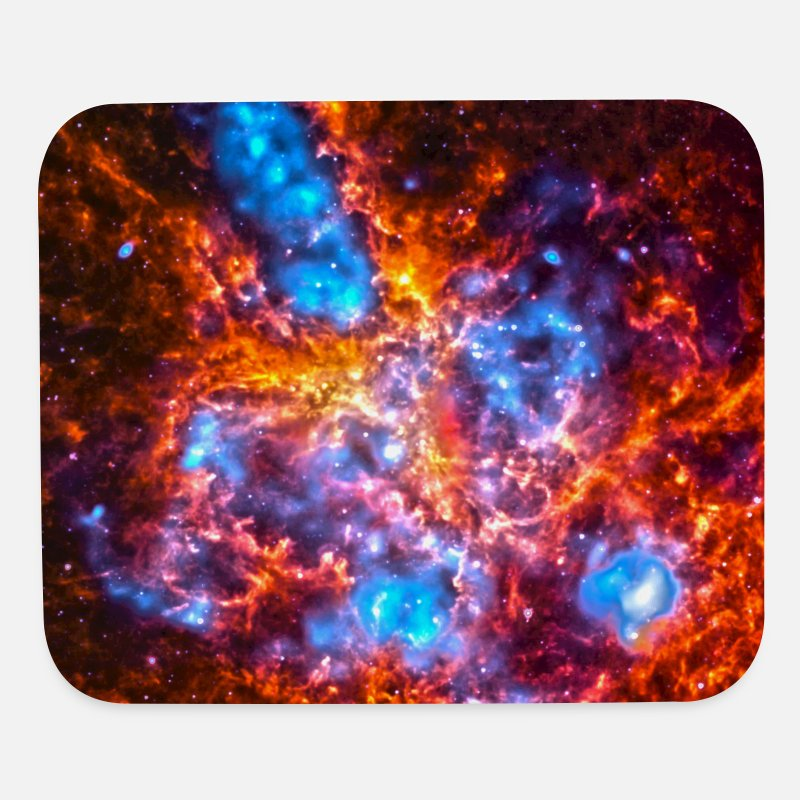Mousepad Mousepads  - Colorful Cosmos - Mouse Pad white