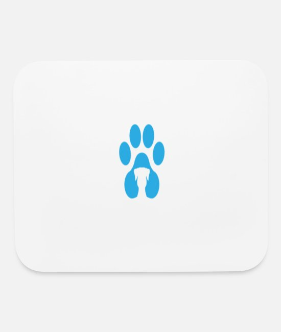 Animals Foot Mouse Pads - Foot Prints - Mouse Pad white